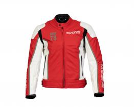 Ducati IOM 78 C1 leather jacket front