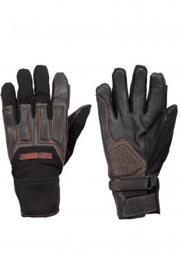 Harley Davidson Vanocker Under Cuff leather/textile gloves
